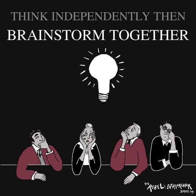 Brainstorm together