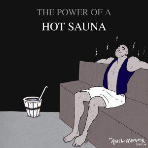 The power of a hot sauna