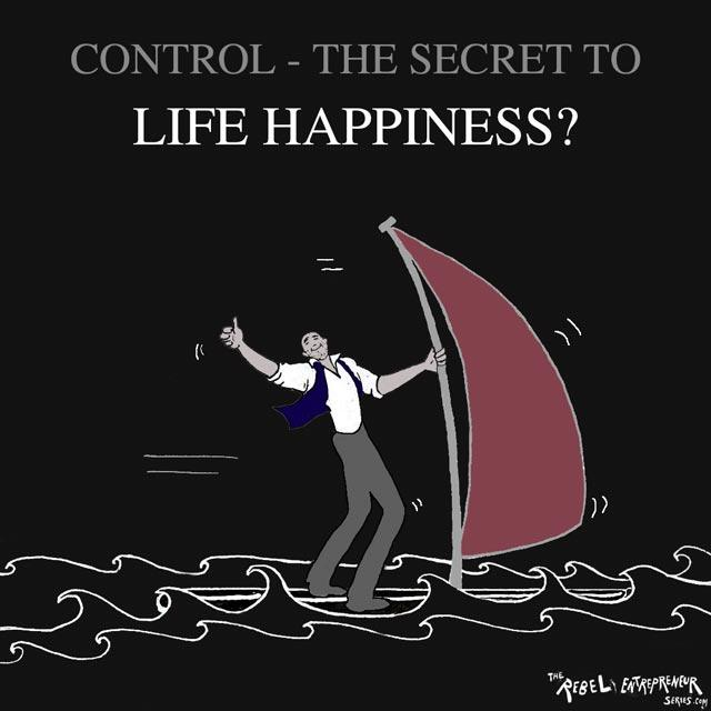 Control and happiness